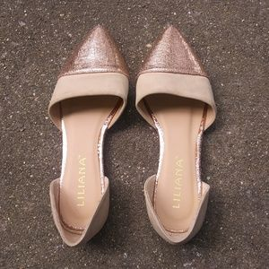 Liliana Rose Gold Flats 7.5